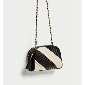 Zara quilted two toned crossbody bag
